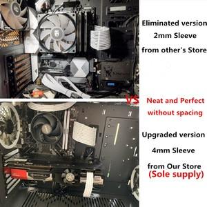 Image 2 - Temel uzatma kablosu kiti 4mm 1 adet 24Pin ATX 1 adet CPU 8Pin 4 + 4Pin 1 adet GPU 6Pin PCI E güç uzatma kablosu