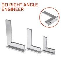50x40/75x50/100x70mm machinista de 90 graus ângulo direito engenheiro quadrado conjunto com assento precisão aço terra endurecido ângulo régua