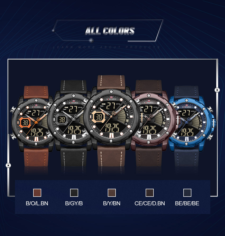NAVIFORCE NF 9172 Military Dual-Time Watch 8