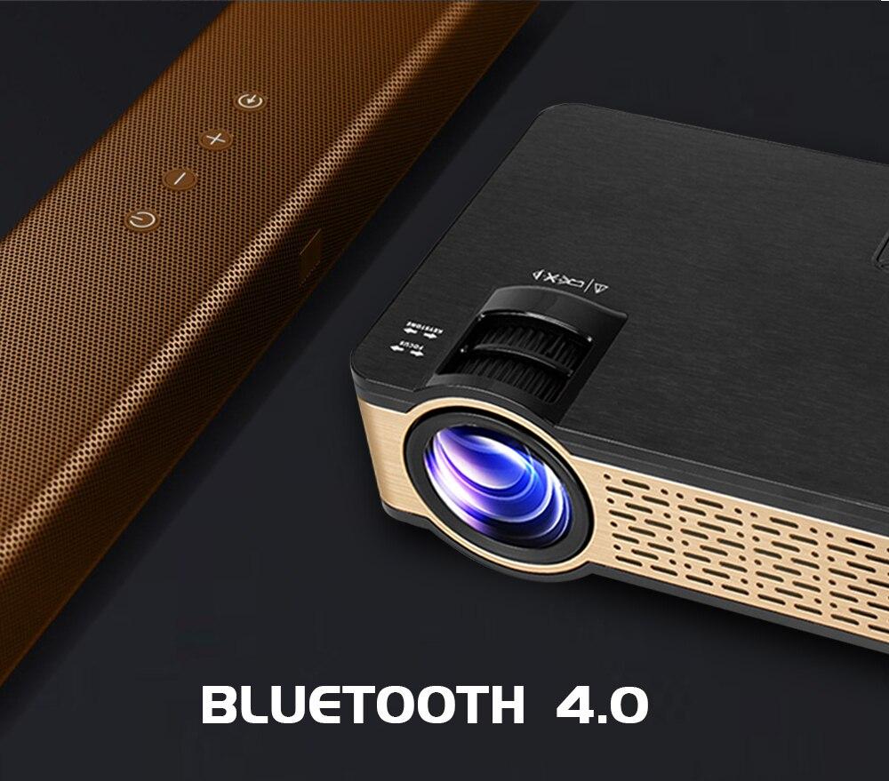 Real tv w5 hd mini projetor 4000 lumens android wifi bluetooth suporte portátil 1080p para o telefone inteligente hdmi usb vga sd com presente-5