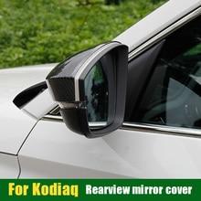 Protective-Cover Kodiaq Rearview-Mirror Auto-Accessories for Skoda Rain-Eyebrow Anti-Scratch-Cover