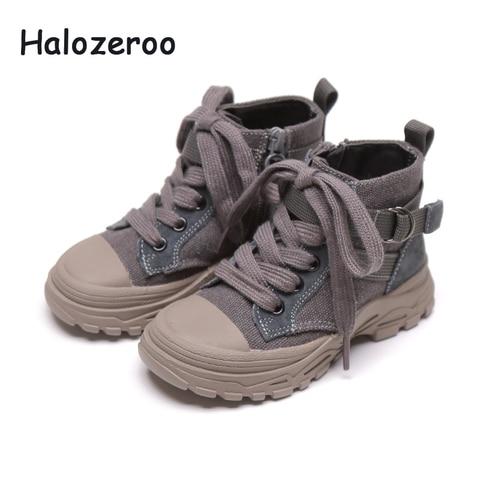 novas outono criancas sapatos pretos do bebe meninas martin botas criancas botas macias botas de