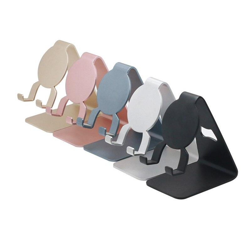 Folding Mobile Phone Desktop Bracket Lazy Mount Holder For Live Stream Office Kitchen Aluminum Alloy Mobile Phone Holder