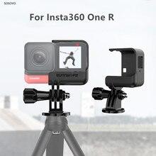 Support de fixation pour boîtier de Protection à dégagement rapide avec adaptateur 1/4 pour accessoires de caméra daction Insta360 One R