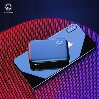 Minibanco de energía de 10000mAh, cargador portátil con pantalla lateral de carga rápida, USB Dual, salida rápida, micro USB, tpye-c, Banco de energía de carga rápida