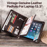 Business Affairs Tablet Case for MacBook Pro13.3 Multi Function Retro Classic Portable Leather Bag for iPad12.9 inch