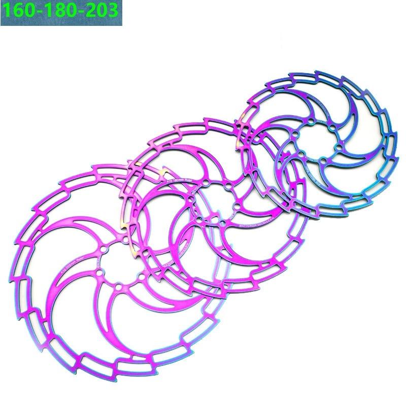 140//160//180//203mm MTB Bike Disc Brake Rotor IS//PM Caliper Disc Brake Adapter CNC