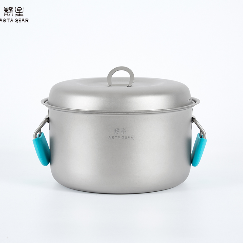 ASTAGEAR  Outdoor Pure Titanium Pot Set Tableware  Camping Cooker Set  Portable Picnic Cooker Light Outdoor Camping Equipment