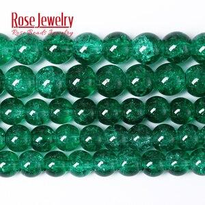 Зеленый треснутый кварцевый и из натурального камня, бусины для изготовления ювелирных изделий, круглые бусины с кристаллами 8, 10, 12 мм, опто...