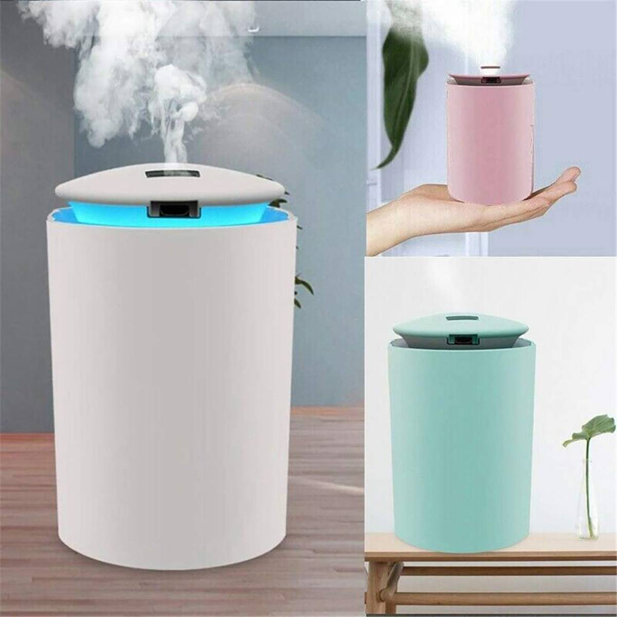 260ML Mini Ultrasonic Air Humidifier Romantic Soft Light USB Essential Oil Diffuser Car Purifier Aroma Anion Mist Maker