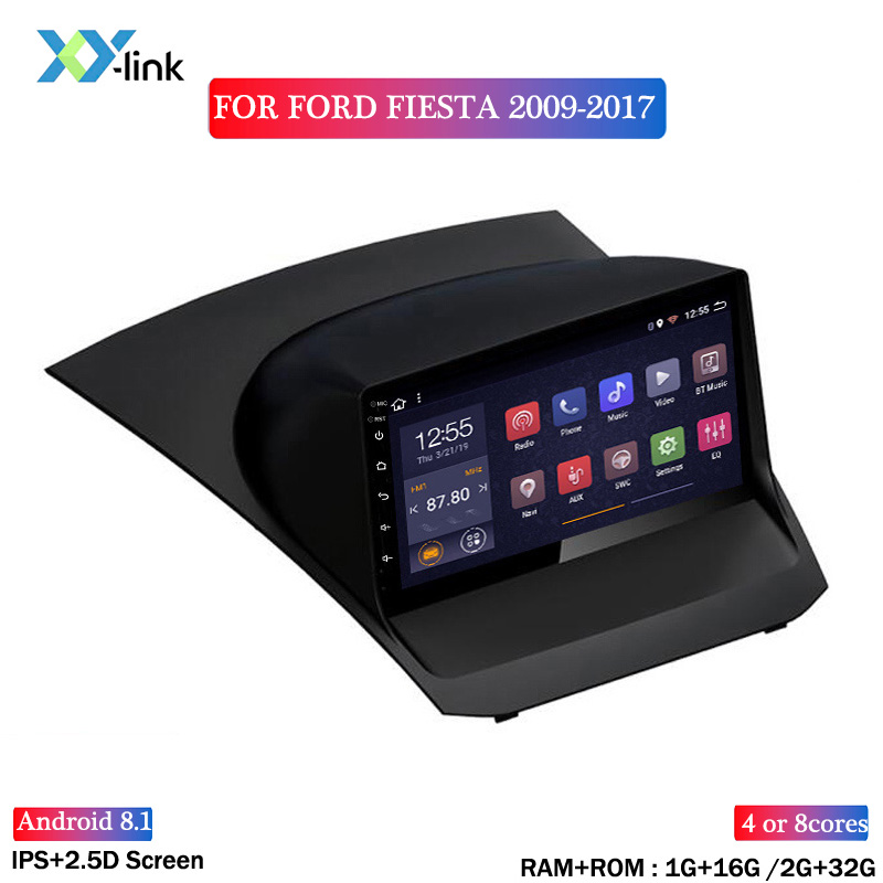 9 INCH 2.5D Android 8.1 Car DVD <font><b>GPS</b></font> Player For <font><b>ford</b></font> <font><b>FIESTA</b></font> 2009-2017 Car Radio Stereo Head Unit Navigation image