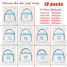 10 Packs Dental Orthodontic Teeth Stainless Steel-round Arch Wire Lower./Uper.020/018/016/014/012 Orthodo ovoid Form LOT Dentisy