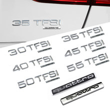 Металлические 3d-наклейки 30/35/40/45/50/55 TFSI, эмблема заднего багажника, значок с объемом двигателя автомобиля для Audi Quattro A3/A4/A6/Q3/Q5/Q7/RS3/RS4
