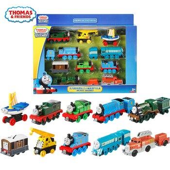 Original Thomas and Friends Trackmaster 10pcs Diecast Plastic&Alloy Train Set Toys for Children Kids Friendship Birthday Gifts эксклюзиные паровозики в асст thomas and friends