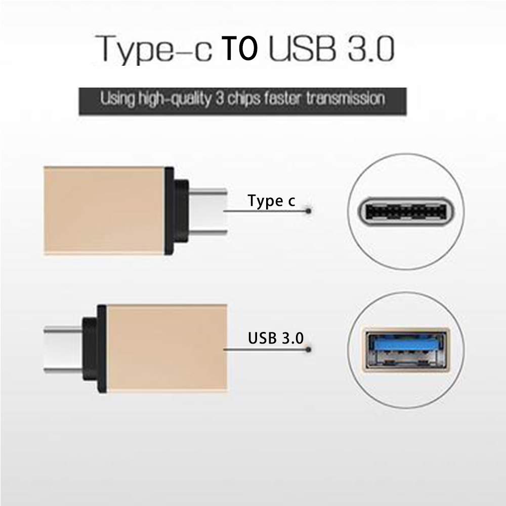 USB OTG Type C To USB 3.0 Adapter OTG Fast Charging Data Type-C Mobile Phone Cables Converter For Macbook Samsung Xiaomi Oneplus