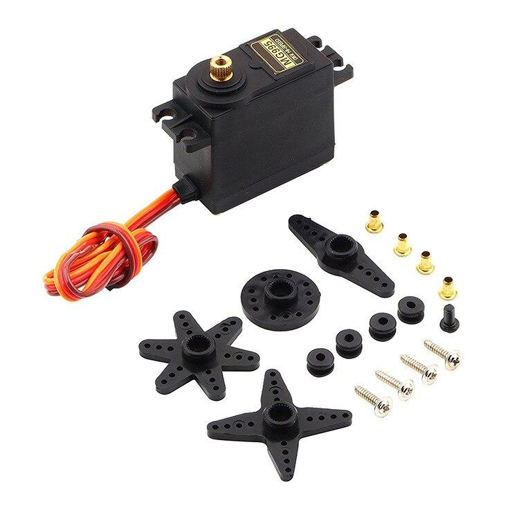 Servo numérique en métal pour voiture RC, 4 pièces, 13KG, 15KG, MG995, MG996R, MG996, 4.8-6.0V, engrenage à couple élevé, avion 1/8 1/10, Arduino, bricolage
