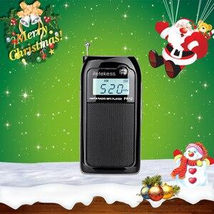 Image 1 - Retekess PR12 מיני כיס רדיו FM AM דיגיטלי כוונון רדיו מקלט 9K/10K MP3 מוסיקה נגן נטענת סוללה נייד רדיו