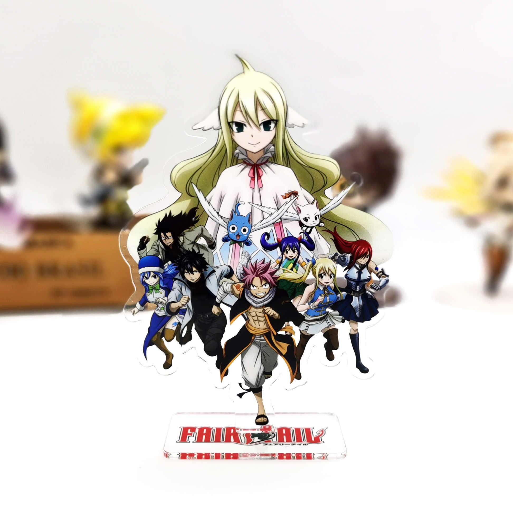 6 Fairy Tail Figuren Set Anime Manga Lucy Gray Natsu Happy Erza 6 cm