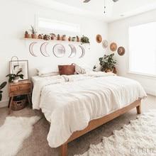 Decoración Natural escandinava, espejos de acrílico Moonphase, diseño Interior, luna de madera, espejo de fase, decoración de pared Bohemia para habitación