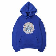In 2019, the new hoodie lion print picture tide brand cotton  hip hop shirt
