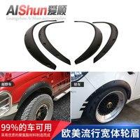 Transfronteiriça Carro Modificado Universal Wide Body Testa Roda SUV Carro Universal Ampliou Decoração Roda Sobrancelha Splasher Acessórios de pneus     -