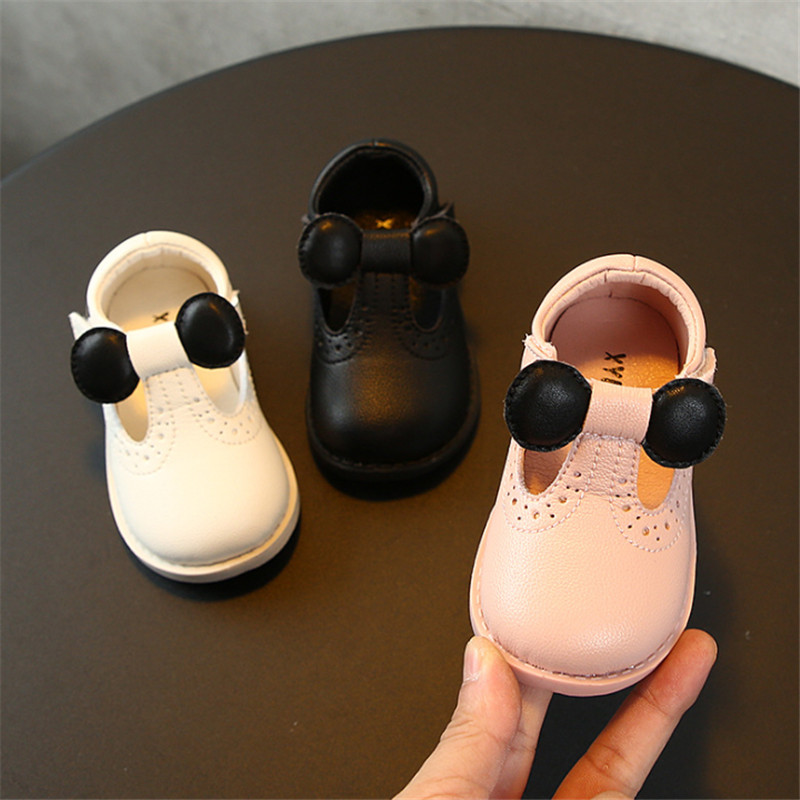 DIMI 2019 Autumn New Baby Leather Shoes Newborn Walking Shoes Soft Fat Infant Girl Shoes T19-83