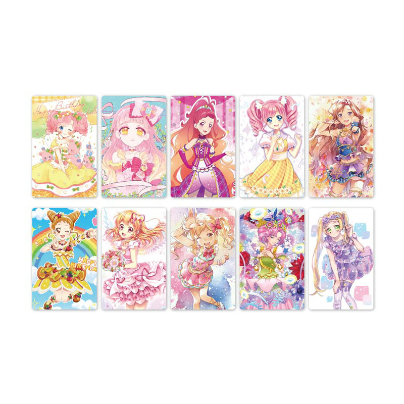 10pcs Aikatsu Friends! Anime Card Stickers Scrub Card Sticker Kids Sticker Toys For Kids Collection Gift