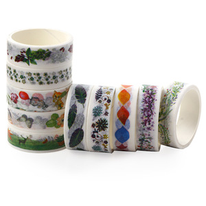 Image 4 - 50 Pcs/Box Washi Tape Decoration Scrapbooking Planner Masking Tape Lot Adhesive Tape Label Sticker Stationery DIY Gift