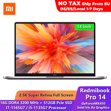 Nuovo originale Xiaomi Redmibook Pro 2021 Laptop I7/i5 Ultrabook Notebook 14 pollici 16 RAM 512GB SSD Windows 10 Computer Pc portatile