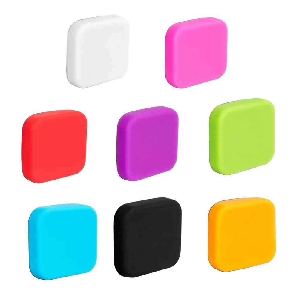 Dla Go Pro kolorowa soczewka ochronna pokrywa miękkiego silikonu dla GoPro Cap odporna na zarysowania pyłoszczelna kamera Hero 5 akcesoria Acti A8F1