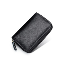 Top quality cow leather Men's business card holder new cowhide card wallet casual short Men Card holder Small Purse for cards
