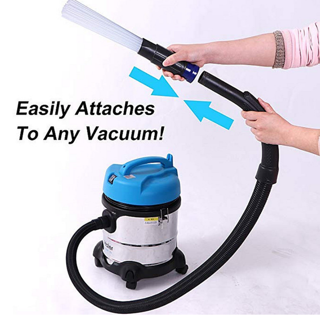 Universal Vacuum Attachment Dust Daddy Small Suction Brush Tubes Cleaner Remover Tool Cleaning Brush for Air Vents Keyboards