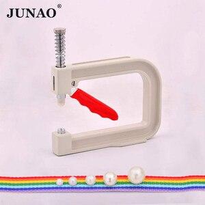 Image 1 - JUNAO Machine à fixer les perles blanches 4 5 6 8 10mm, outils de couture manuels, strass, Machine à rivets, pour artisanat, fournitures de couture