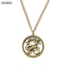 mulan level 6 2020 Mulan Necklace Mushu Medallion Pendant Necklace Gold Silver Plated Dragon jewelry Women Princess Mulan Cosplay Costume