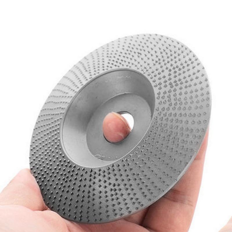 Aletler'ten Taşlama Tekerlekleri'de 185/100mm NO.45 çelik ahşap açılı taşlama tekerlek zımpara oyma döner aracı aşındırıcı disk ile açı değirmeni için 16mm delik title=