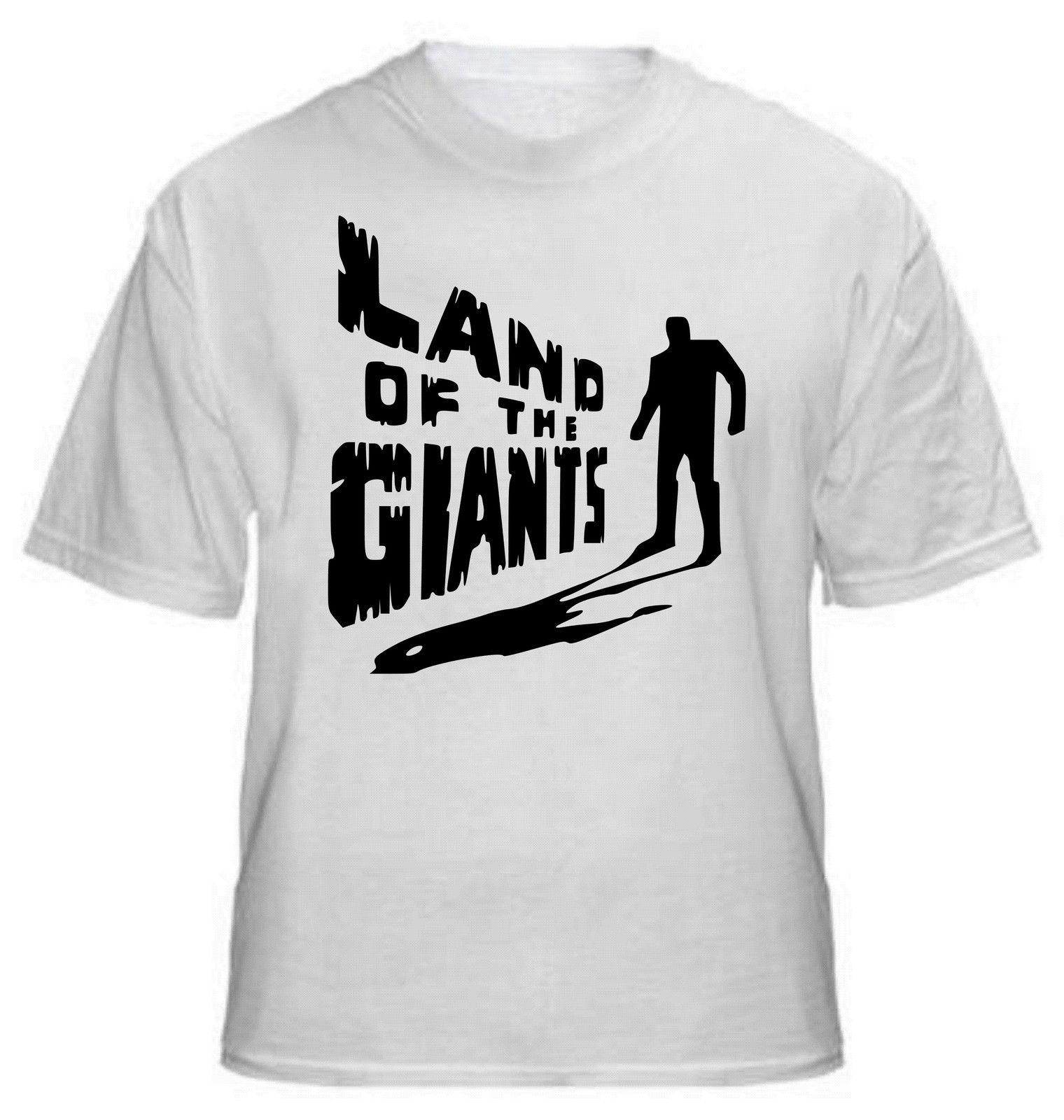 """Camiseta masculina estilo de verão camiseta de verão """"tierra de gigantes"""" camiseta-cult sci-fi serie tv, todas las tallas"""