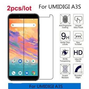 Перейти на Алиэкспресс и купить 2.5D 9H закаленное стекло для UMIDIGI A3S Защитная пленка для UMIDIGI A3S
