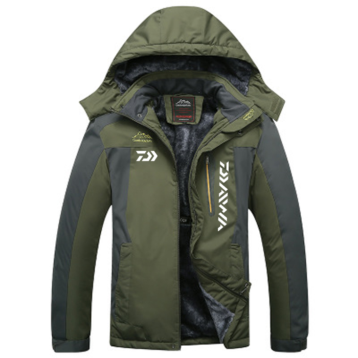 2020 DAIWA Fishing Clothing Winter Autumn Winter Waterproof Warm Fishing Jackets Men Fleece Thick Outdoor Fishing Shirts M-9XL