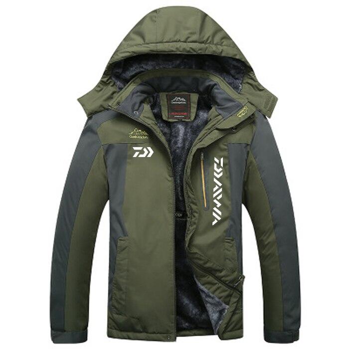2020 DAIWA Vissen Kleding Winter Herfst Winter Waterdichte Warme Vissen Jassen Mannen Fleece Dikke Outdoor Vissen Shirts M-9XL