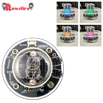 DIY Glow Tube Clock Base Multi-Colored LED Glow Tube Clock for Glow Tube QS30-1 SZ-8 SZ3-1 SZ1-1 ZM1020 (No Glow Tube ) фото