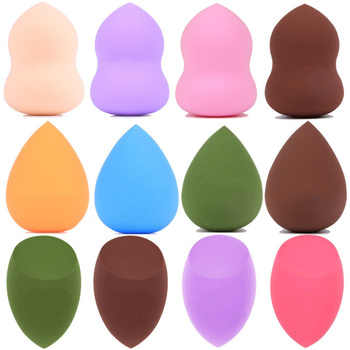 Miracle 1pcs Makeup Sponge Powder Puff Dry and Wet Combined Beauty Makeup Ball Gourd Powder Puff Bevel Cut Make Up Sponge Tools 1