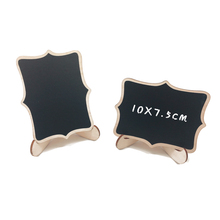 Купить с кэшбэком 5pcs/Lot Cute Lace shape Wooden Chalkboard Blackboard Message Board Children Kids Writing Black Boards Toy