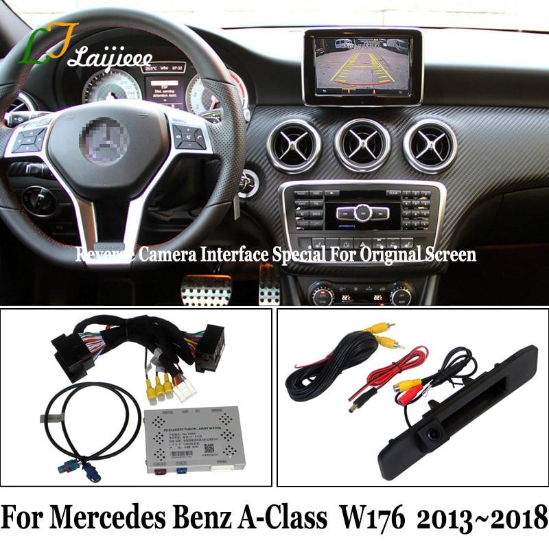 Комплект камеры заднего вида для Mercedes Benz A Class W176 2013 ~ 2018/HD камера заднего вида для парковки обновленный экран OEM Программирование не требуетс...