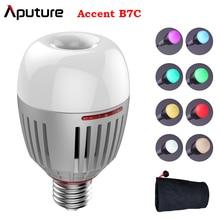 Aputure B7C 7W RGBWW LED الذكية لمبة CRI 2000K 10000K قابل للتعديل 0 100% ستبليس يعتم App التحكم التصوير أضواء