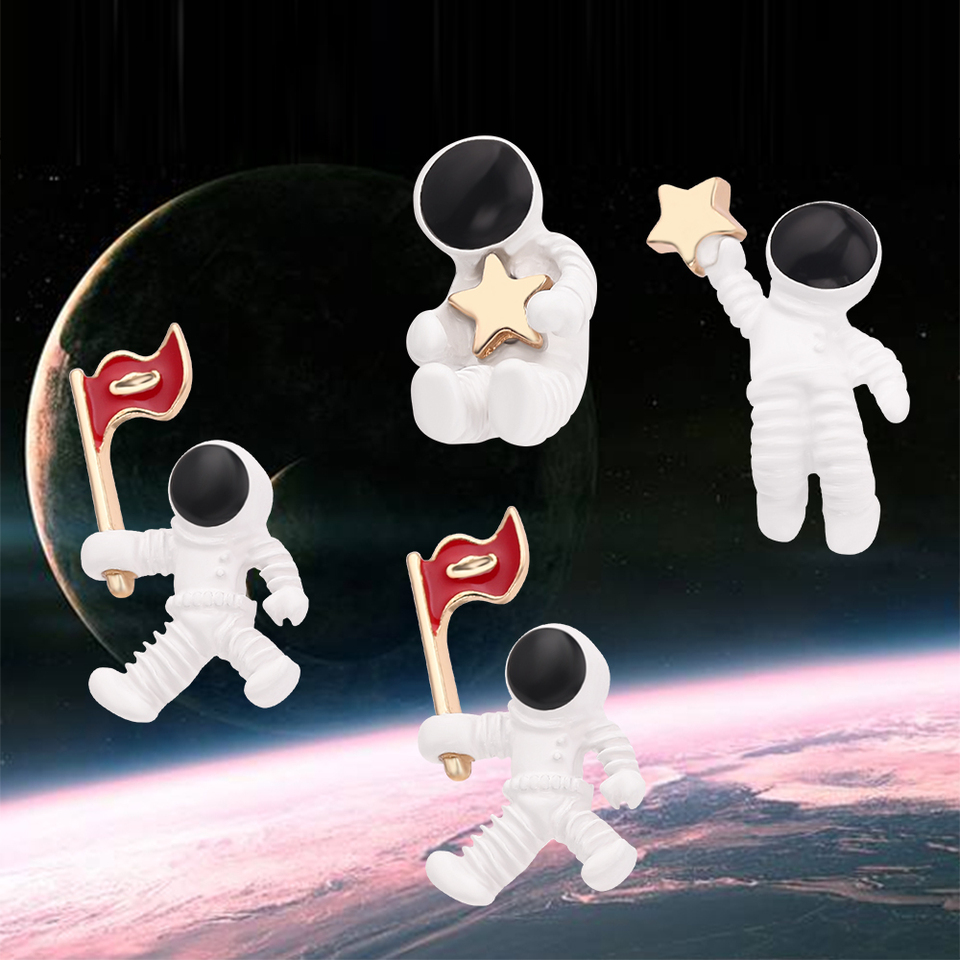 Silver Star Earrings Studs Tibetan Stars Gift Present Space Astronomy Jewellery