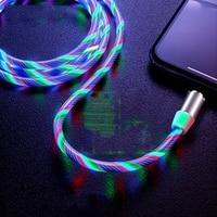 HEEMAX LED Beleuchtung Typ C Kabel USB C Draht Micro Ladegerät Kabel Schnelle Lade Magnetische USB Kabel für iPhone Huawei samsung