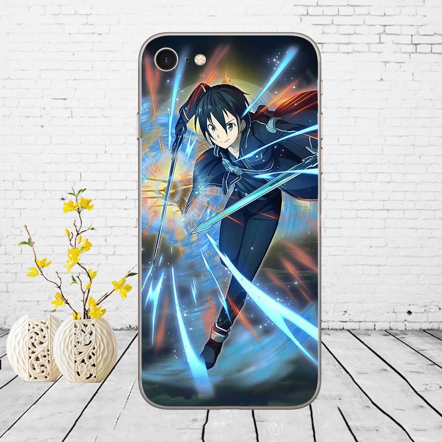239DD Zwaard Art Online Sao Anime Manga Zachte Siliconen Cover Case Voor Iphone 5 5S Se 6 6S 8 Plus 7 7 Plus X Xs Sr Max Case