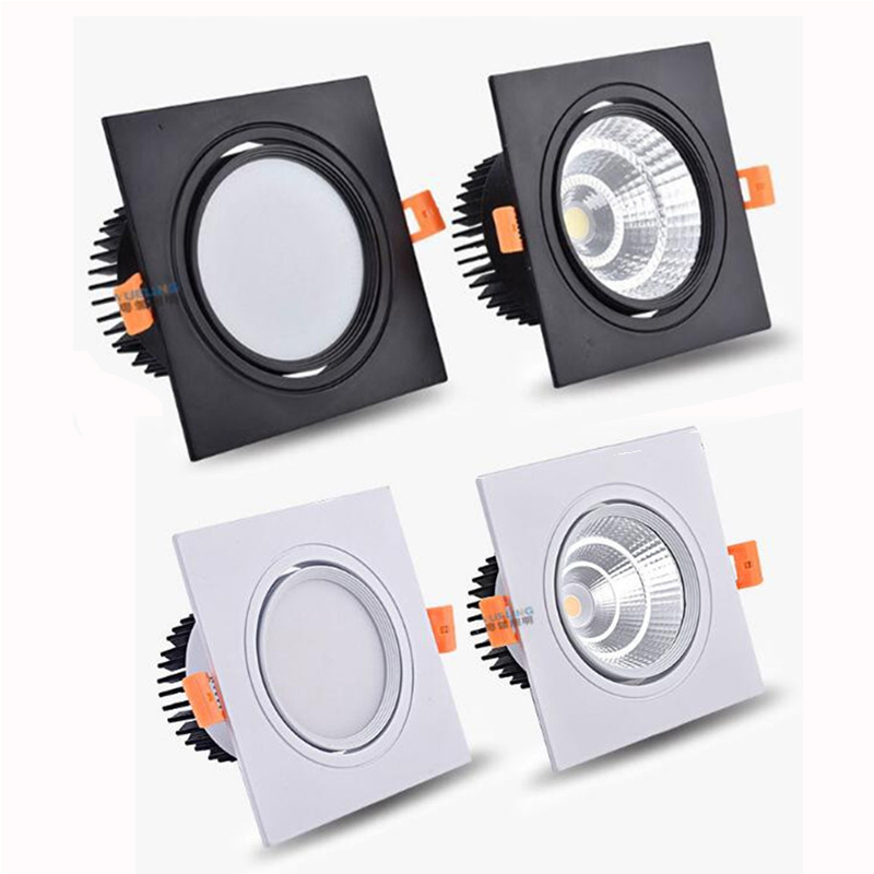 Dimmable Led Downlight Light Angle Adjustable COB Ceiling Spot Light 3w 5w 7w 9w 12w 15w Ceiling Recessed Lights AC85-265V