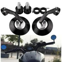 New 1 Pair 7/8 Round Motorcycle Mirrors Restoring Ancient Refit Parts 22mm Handlebar Bar End Rearview Side Mirrors Universally