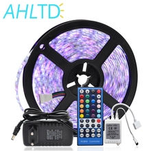 цена на 5050 RGBW LED Strip Waterproof/Non Waterproof DC 12V 5M RGBW LED Strips Light Flexible with 3A Power and Remote Control full set